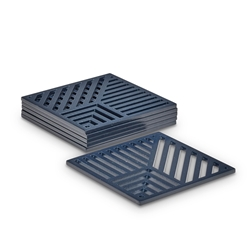 LINEAR Coasters - Set of 6 - Ink