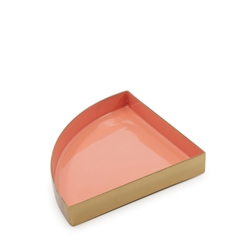 HALCYON Quarter-Circle Tray - Dusk/Gold