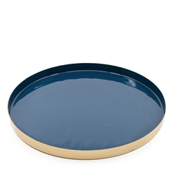 HALCYON Circle Tray - Oxford/Gold