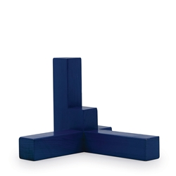 METRIC Axis Décor Object - Blue Wood