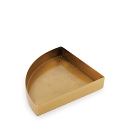 HALCYON Quarter-Circle Tray - Gold