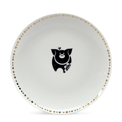 CHARMED Plate - 20cm  - Gold