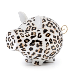 OINK Money Box - 23cm - Leopard