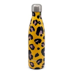 HYDRA Water Bottle - 500ml - Yellow Snow Leopard