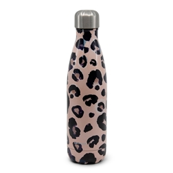 HYDRA Water Bottle - 500ml - Pink Snow Leopard