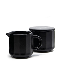 BREW Sugar Bowl and Creamer Set - Black