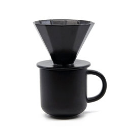 BREW Mug and Pour-Over Set - Black