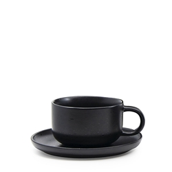 BREW Tea Cup and Saucer Set - Black