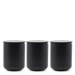 BREW Canister Set - 3-Piece - 10x13cm - Black