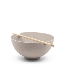 Ikana Bowl and Chopstick Set - 16.5cm - Stone