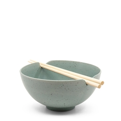 Ikana Bowl and Chopstick Set - 16.5cm - Moss