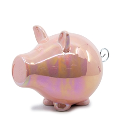 OINK Money Box - 23cm - Pink Lustre