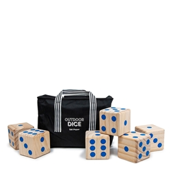 PLAY Giant Dice Set - 6-Piece - 9cm