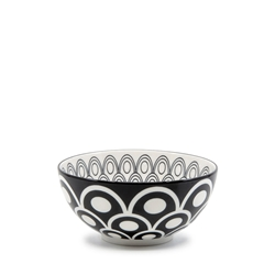 Christopher Vine Peacock Bowl - 15x7cm - Black
