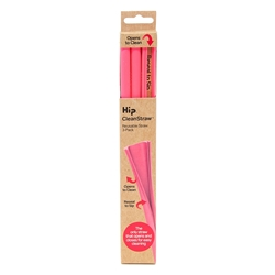 Hip Cleanstraw - Set of 3 - Hot Pink