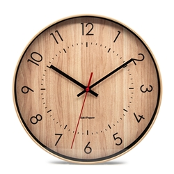 Bailey Clock - 31cm - Light Brown
