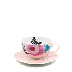 Willow Tea Cup & Saucer - 240ml - Rose