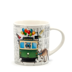 Christopher Vine DESTINATION AUSTRALIA Tram Mug - 350ml