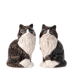 ANIMALIA Salt and Pepper Set - Set of 2 - Fluffy Black & White
