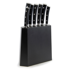 Strand Angled Knife Block Set - 8 Piece - Black
