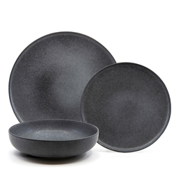 Hue Dinner Set - 12-Piece - Black