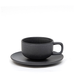 Hue Tea Cup and Saucer Set - 200ml/15.5cm - Black