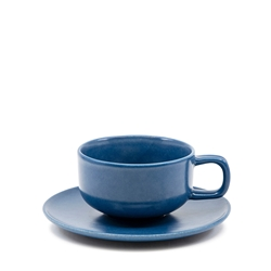 Hue Tea Cup and Saucer Set - 200ml/15.5cm - Blue