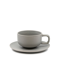 HUE Tea Cup and Saucer Set - 200ml/15.5cm - Grey