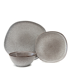 ARCH Dinner Set - 12-Piece - Charcoal
