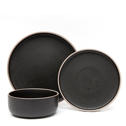 HANA Dinner Set - 12-Piece - Black