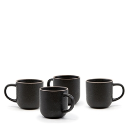 HANA Mug Set - 4-Set of 4 - 380ml - Black