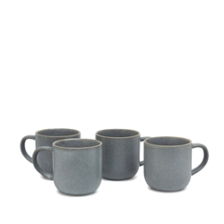 HANA Mug Set - Set of 4 - 380ml - Blue