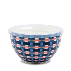 LUNCH2GO Bowl with Lid - 15cm - Pink Wicker