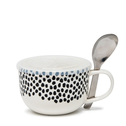 LUNCH2GO Soup Mug with Spoon - 250ml - Dotty