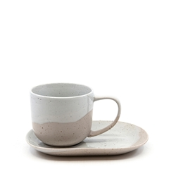 Roam Tea Cup and Saucer Set - 240ml/16x11cm - Natural
