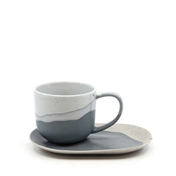 Roam Tea Cup and Saucer Set - 240ml/16x11cm - Blue