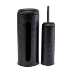 SPOT Toilet Brush & Roll Holder Set - 2 Piece - Black