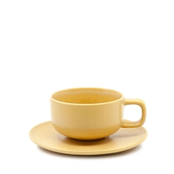 HUE Tea Cup and Saucer Set - 200ml/15.5cm - Yellow