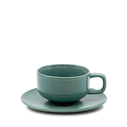 HUE Tea Cup and Saucer Set - 200ml/15.5cm - Green