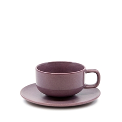 HUE Tea Cup and Saucer Set - 200ml/15.5cm - Purple