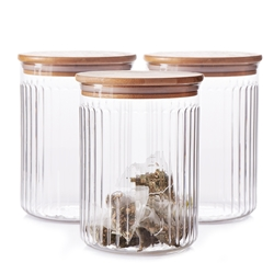 Brew Glass Canister Set - 3-Piece - 13x17cm