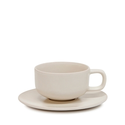 HUE Tea Cup and Saucer Set - 200ml/15.5cm - Stone