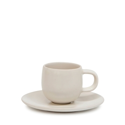 HUE Espresso Cup and Saucer Set - 85ml/12cm - Stone