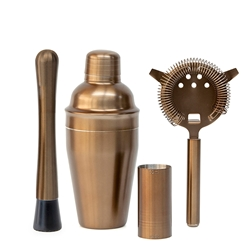Bond Cocktail Set - 4-Piece - Metallic Bronze