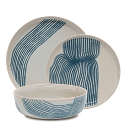 SKETCH Dinner Set - 12-Piece - Blue