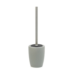 Emboss Toilet Brush Holder - 39.5cm - Cloud