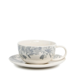 Neri Tea Cup & Saucer - 250ml - Cloud