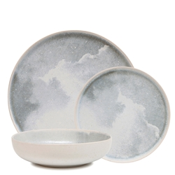Nebi Dinner Set - 12 Piece - Grey