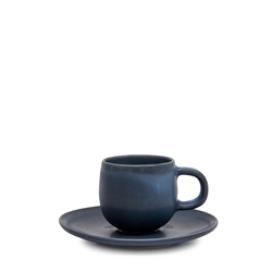 Hue Espresso Cup & Saucer - 85ml - Midnight