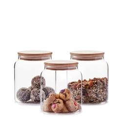 Beacon Storage Container - 1300ml - Set of 3 - Glass
